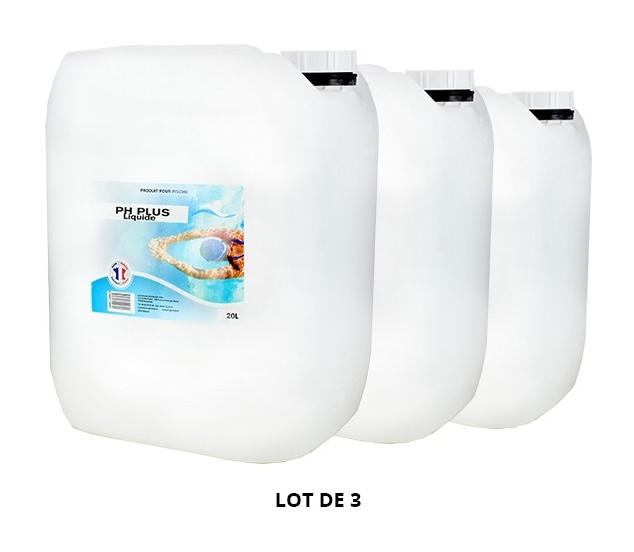 pH Plus liquide - 3x20L de pH, TAC - Swimmer