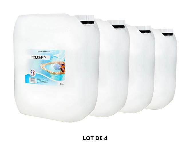 pH Plus liquide - 4x20L de pH, TAC - Swimmer
