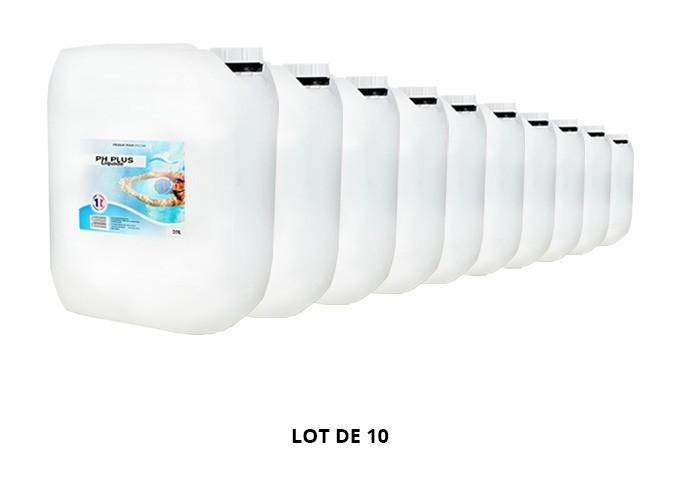 pH Plus liquide - 10x20L de pH, TAC - Swimmer