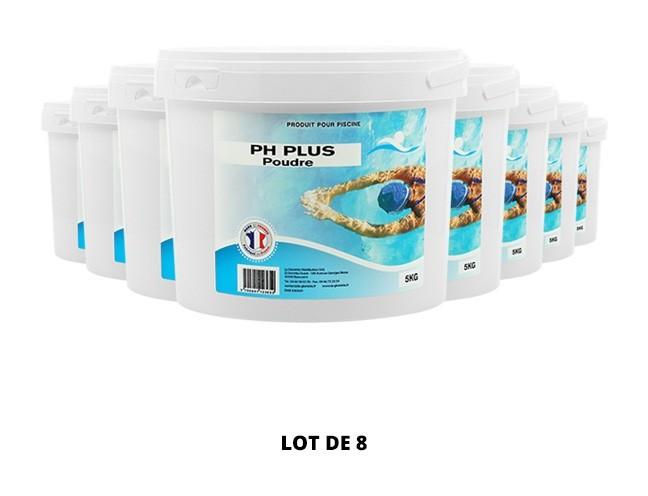 pH plus poudre - 8x5kg de Swimmer - pH, TAC