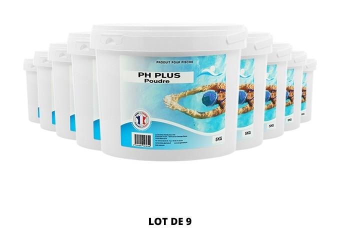 pH plus poudre - 9x5kg de pH, TAC - Swimmer