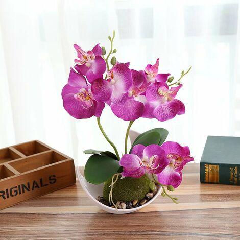 Phalaenopsis fleur artificielle bonsaï décoration plante artificielle pot de fleur artificielle B