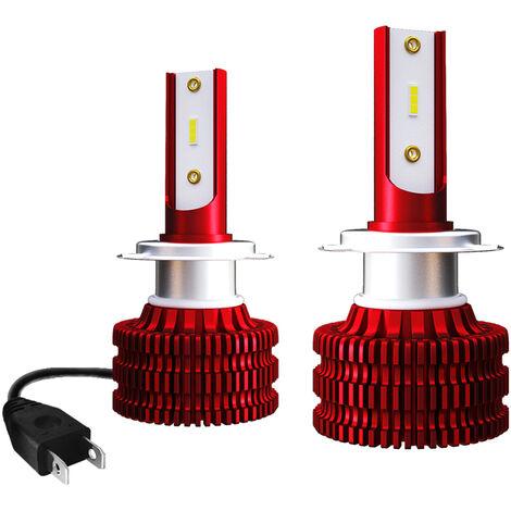Phare De Phare De Voiture K5 Etanche 2Pcs, Kit De Conversion Integre Pour Feux De Route Led, Support De Lampe H7, 36W
