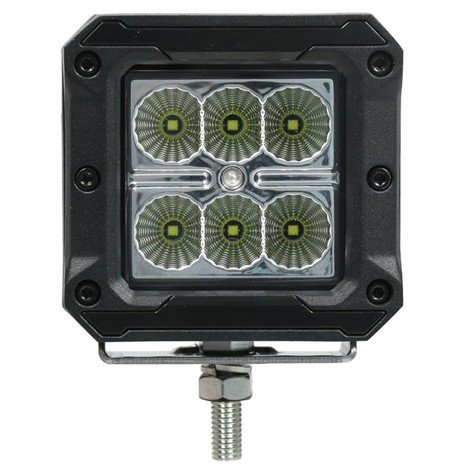 Phare de travail 6 LED 10-30V 18 W 1620 LM avec bandes de couleurs interchangeables
