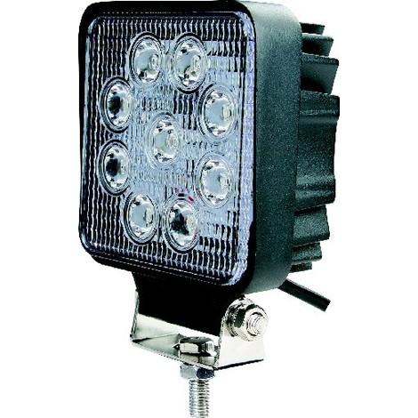PHARE DE TRAVAIL CARRE 9 LED 10W ECLAIRAGE LARGE -S17020