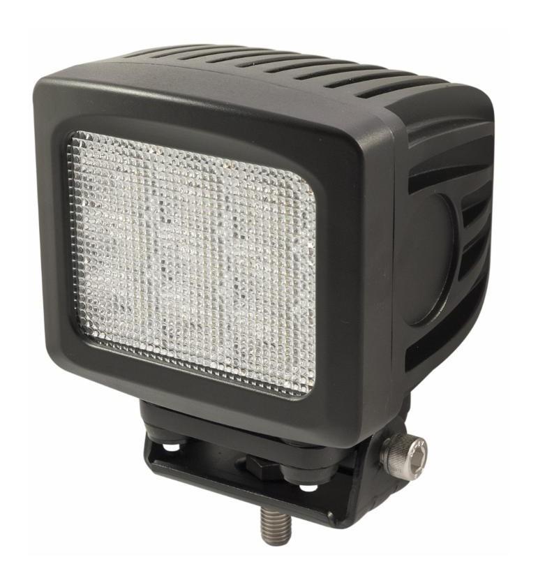 Phare travail carre spot 9 Led 8100 lumen 90 W