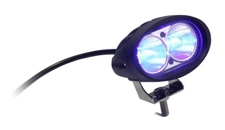 Phare travail lumière bleue AMA 10-60 V 10 W 1000 LM 2 LED