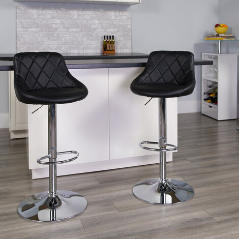 PHILADELPHIA Swivel Stool For Pubs And Kitchens With Padded Backrest