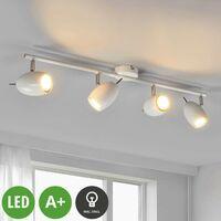 Philippa - weißer LED-Deckenstrahler, 4-flammig