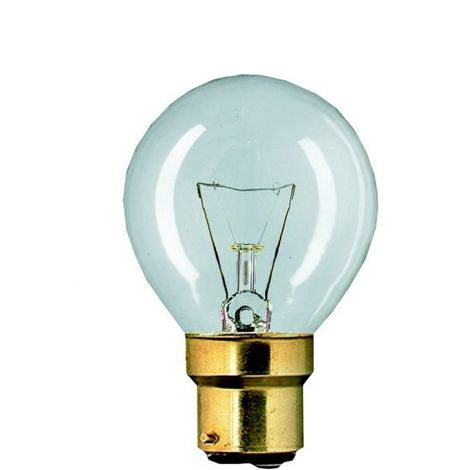 Philips 04180 bulb spherical B22 25W clear