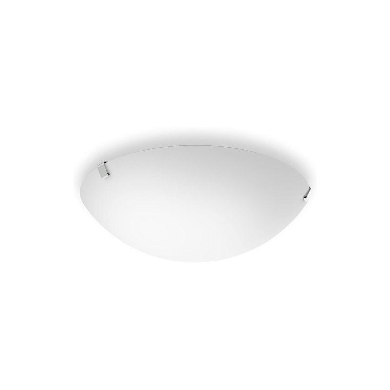Philips Ballan Lampada da Parete e/o Soffitto LED, 10W, Diametro 26 cm, Satinato [Classe di efficienza energetica A+]