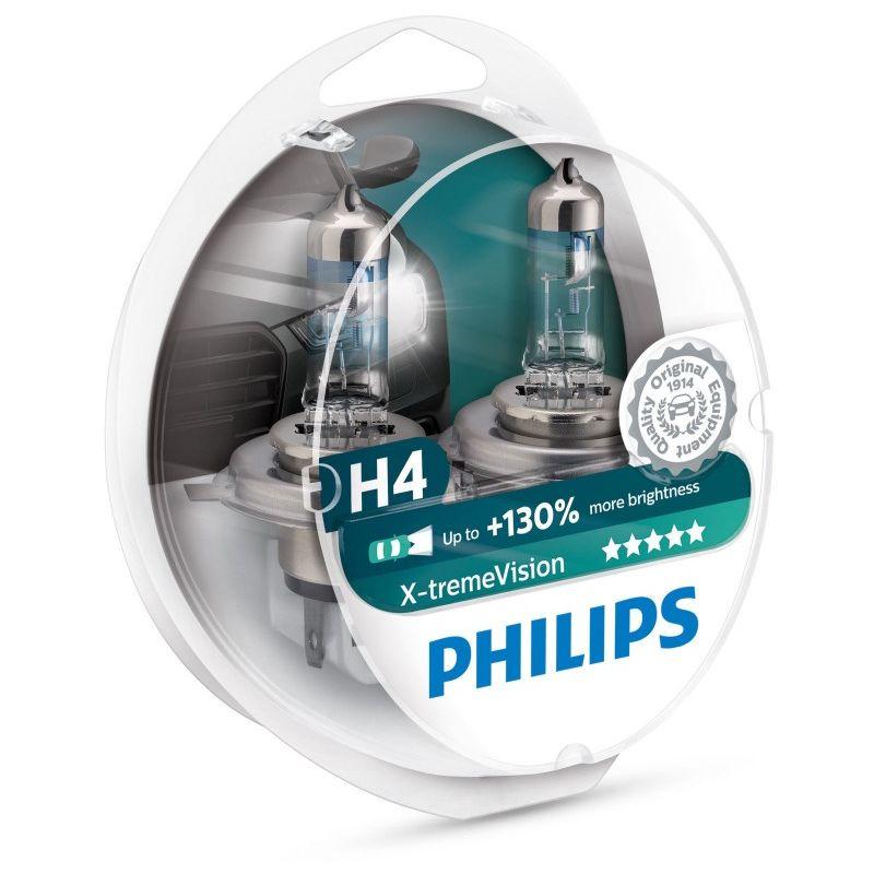 AMPOULE 12342XV+S2 H4 12342 XV+ 12V 60/55W P43T - Philips