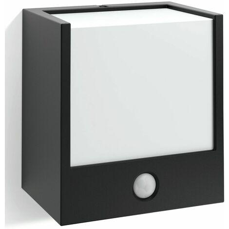 Philips Applique cube détecteur Macaw IR IP44 LED H13 cm - Noir