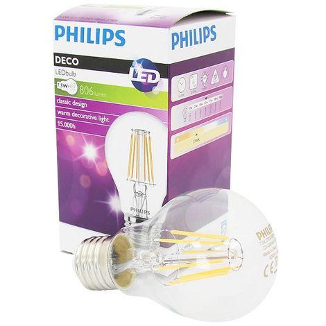 Philips bombilla de filamento Classic E27 517 659 LEDbulb 7.5-60W 827 A60