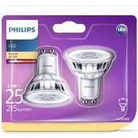 Philips Bombillas de foco LED 2 uds Classic 3,1 W 215 lm 929001217531