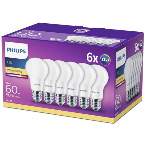 Philips Bombillas LED 6 unidades 8 W 806 lm 929001234391