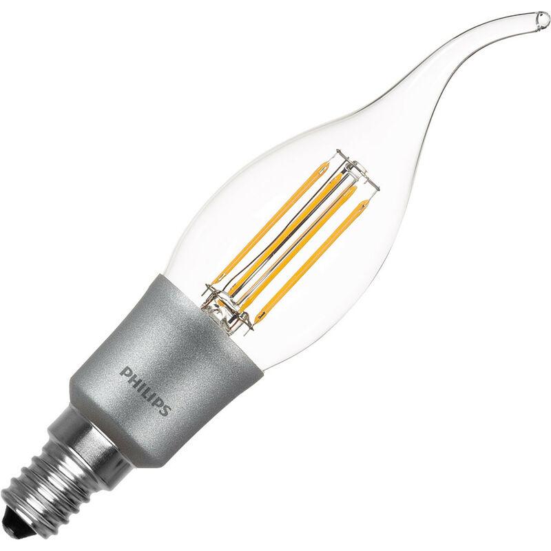 Ledkia - Lampadina LED E14 BA38 Regolabile Filamento Candle 5W Bianco Caldo 2700K