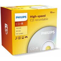 Philips CD-R 52x, 10 pièces en jewelcase (CR7D5NJ10/00)