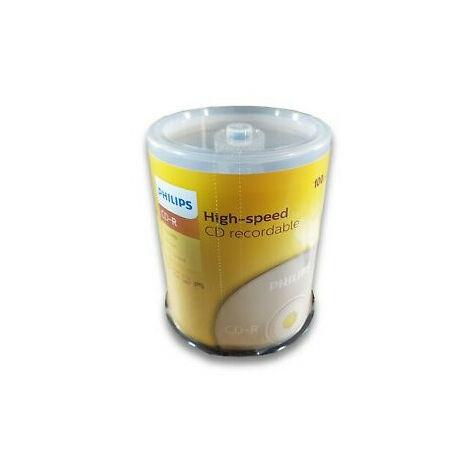 Philips CD-R 52x, 100 pièces en cake box (CR7D5NB00/00)