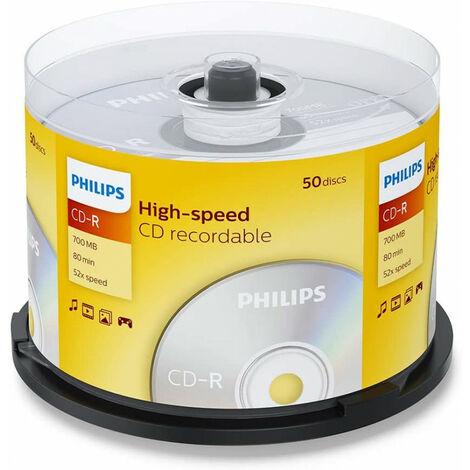 Philips CD-R 52x, 50 pièces en cake box (CR7D5NB50/00)