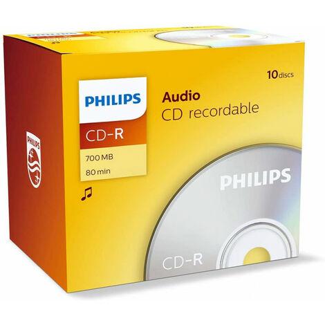 Philips CD-R audio, 10 pièces en jewelcase (CR7A0NJ10/00)