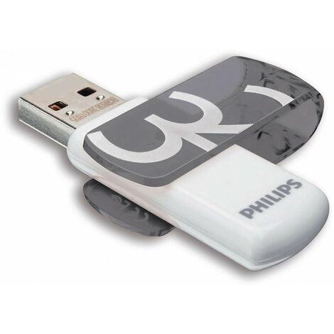 Philips Clé USB FM32FD05B/00 - 32 Go - USB Type-A - 2.0 - 18 Mo/s - Casquette - Orange - Blanc (FM32FD05B/00)