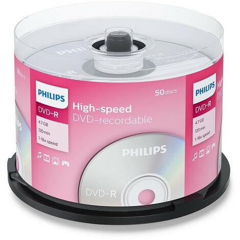 Philips DVD-R 16x, 50 pièces en cake box (DM4S6B50F/00)