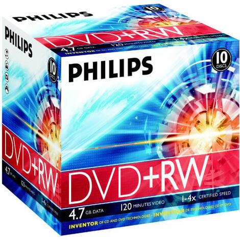 Philips DVD+RW 4x, 10 pièces en jewelcase (DW4S4J10C/10)