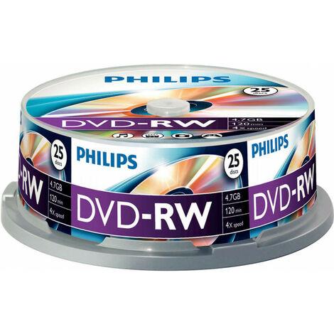 Philips DVD-RW 4x, 25 pièces en cake box (DN4S4B25F/00)