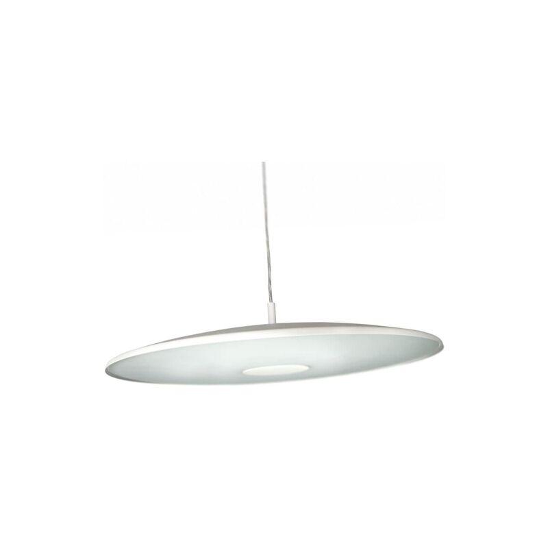 Sosp. disco metallo bianco e vetro - diam. 48,5 cm - 2xGX13 40W incl. - PHILIPS