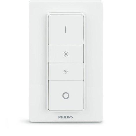 Philips Hue - Mando a distancia, iluminación inteligente, puede colocarse en la pared, controlable vía WiFi, compatible con Apple Homekit y Google Home