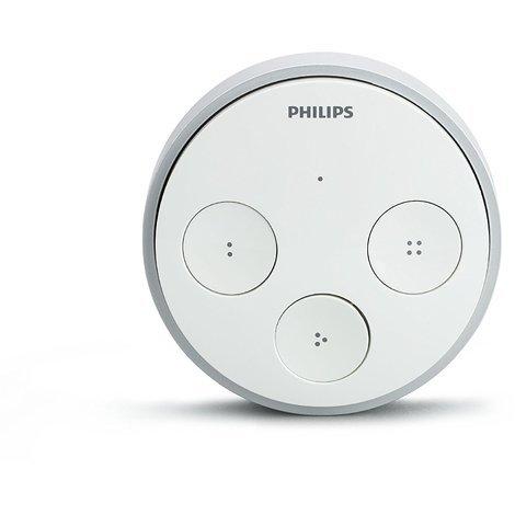 Philips Hue Tap - Interruptor, funciona sin pilas, puede colocarse en la pared, compatible con Apple Homekit y Google Home
