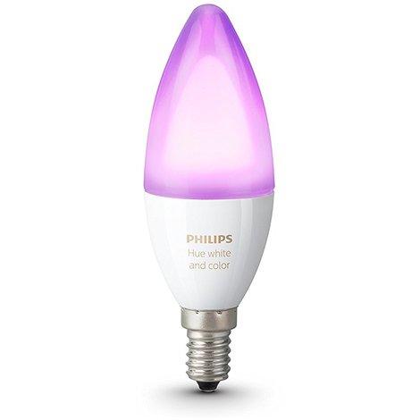 Philips Hue White and Color Ambiance - Bombilla LED individual ( 1 x 6.5 W, E14, iluminación inteligente - bombilla que cambia de color, compatible con Apple Home Kit y Google Home) [Clase de eficiencia energética A+]