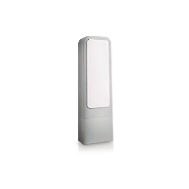 Lighting, Palo Attacco 2G7, 11 W, Altezza 40 cm, Lampadina Inclusa, alluminio grigio - Philips