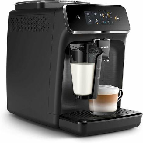 Philips Machines espresso entièrement automatiques - 3 boissons - Machine à expresso - 1,8 L - Café en grains - Broyeur intégré - 1500 W - Noir (EP2230/10)