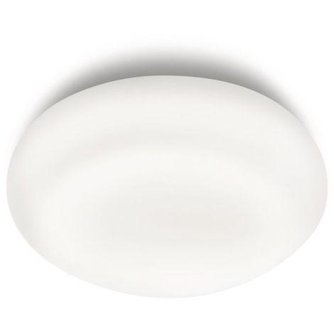 Philips Mist Lampada Bagno Soffitto, Vetro, Diametro 32 cm, IP44, Lampadina Risparmio Energetico Inclusa, Bianco