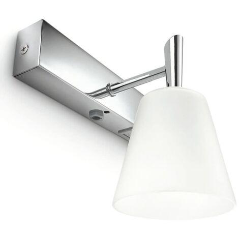 Philips myBathroom Wall Lamp Hydrate Chrome and White 340811116