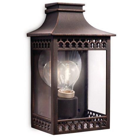 Philips myGarden Hedge - Aplique, iluminación exterior, 60 W, casquillo E27, color marrón rustico [Clase de eficiencia energética A]
