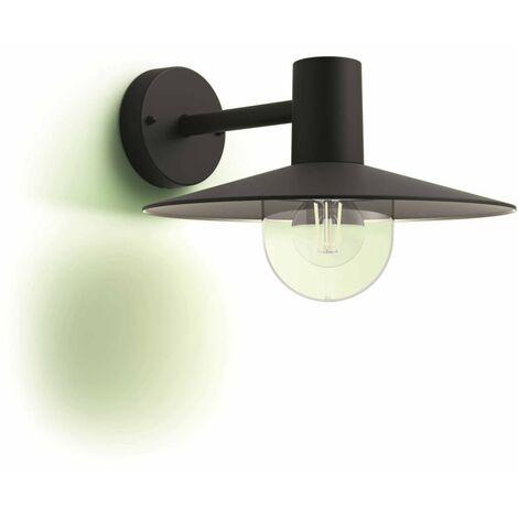 Philips myGarden Lámpara de pared Skua 1x42 W negra 1738230PN - Negro