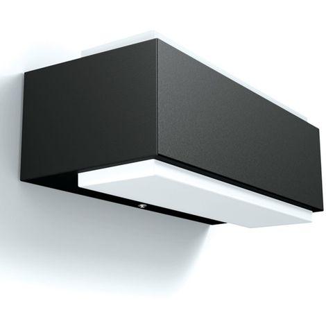 LED Außenwandleuchte Tiberius Lichtaustritt Oben Unten Edelstahl LED Wandleuchte