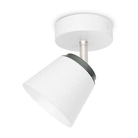 Philips myLiving Dender - Barra de focos, LED, 1 luz, cepillado, iluminación interior, luz blanca cálida, IP20, color blanco