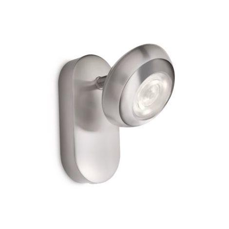 Philips myLiving Sepia 57170/17/16 - Foco, para dormitorio y salón, cromo, IP20, LED, luz blanca cálida, 15000 h