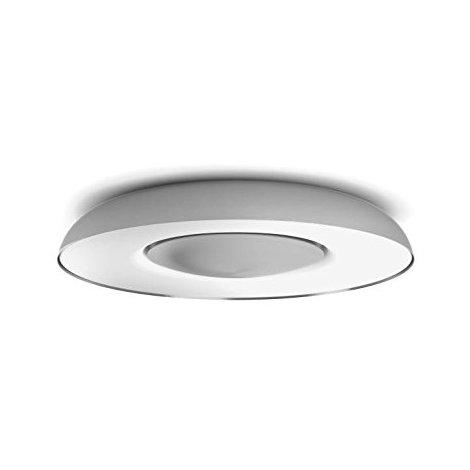 Philips myLiving Still - Plafón, LED integrado, controlable vía App, incluye interruptor Switch, elige entre luz cálida o fría regulable, color gris