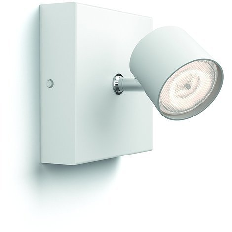 Philips myLyving Star - Foco de pared, LED integrado, consume 4.5 W, luz blanca cálida, regulable [Clase de eficiencia energética A++]