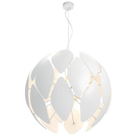Philips Smart Volume Chiffon - Lámpara colgante, bombilla no incluida, no regulable, crea atractivos efectos de iluminación, 80 x 80 x 56,4 cm, color blanco