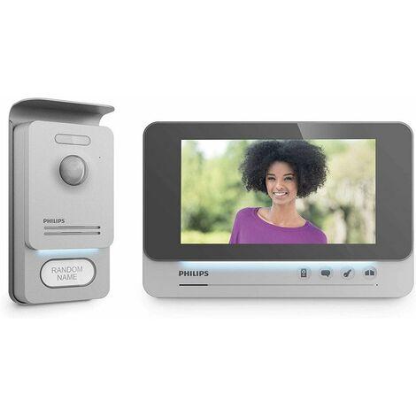 "Philips - Videofono de pantalla 7"" WelcomeEye Comfort Pro de 2 hilos"