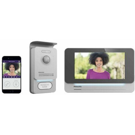 Philips - Visiophone connecté écran 7 Noir WelcomeEye Connect Pro - TNT
