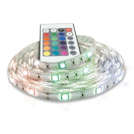 Phoebe LED 5 Metre Strip Kit 32W Dimmable Flexi-Strip with Remote IP65 RGB Flexible Kitchen Bedroom Under Cabinet Colour Changing Ceiling Light
