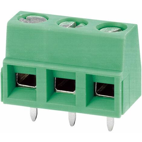 "main image of ""Phoenix Contact 1729131 3-Way PCB Screw Terminal Block 5.08mm 13.5A Green"""