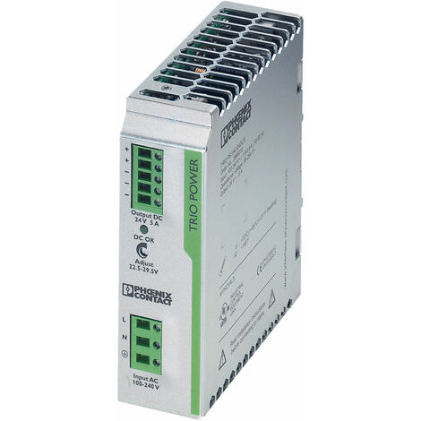 Phoenix Contact 2866310 TRIO-PS/1AC DIN Rail Power Supply 24V DC 5A 125W